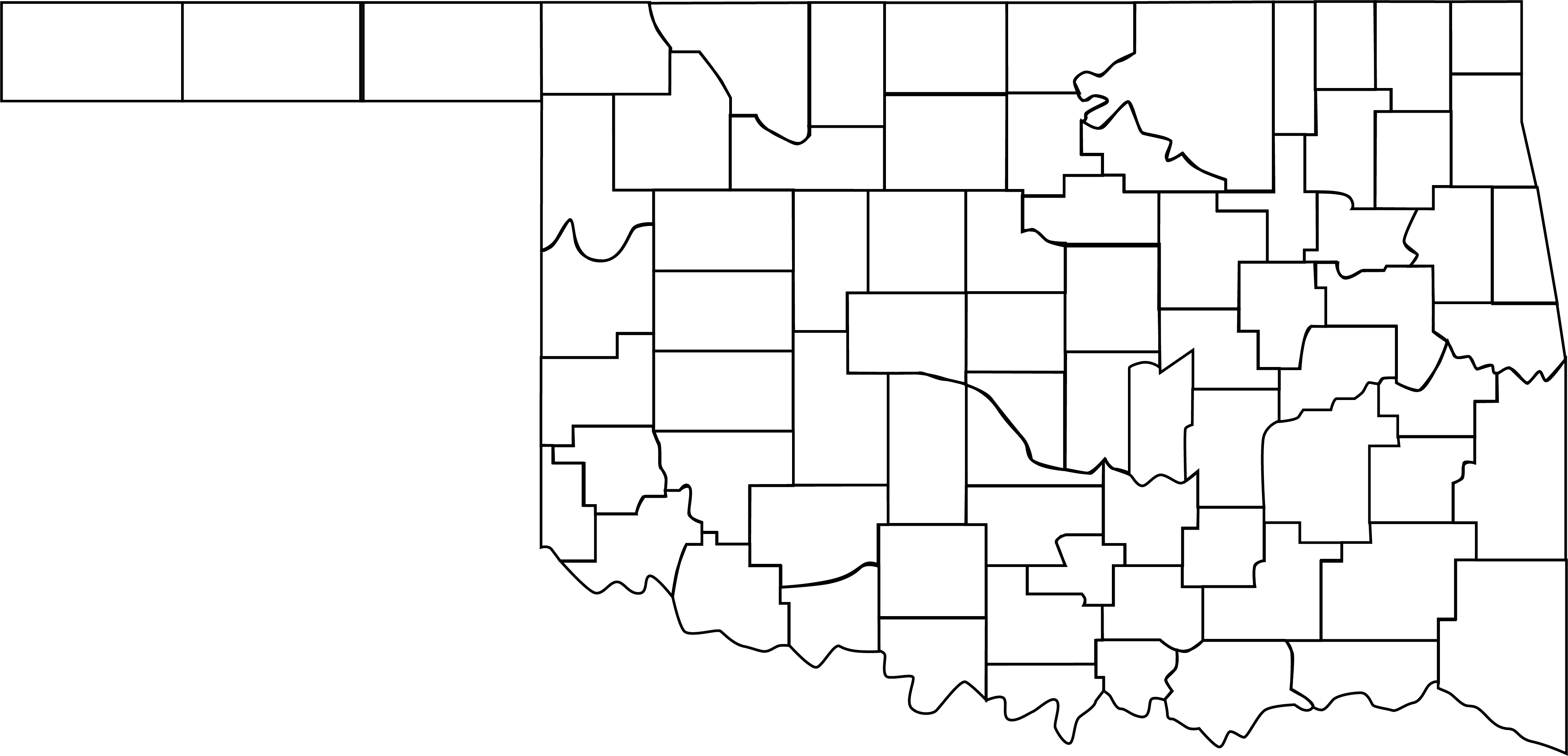 Oklahoma county map